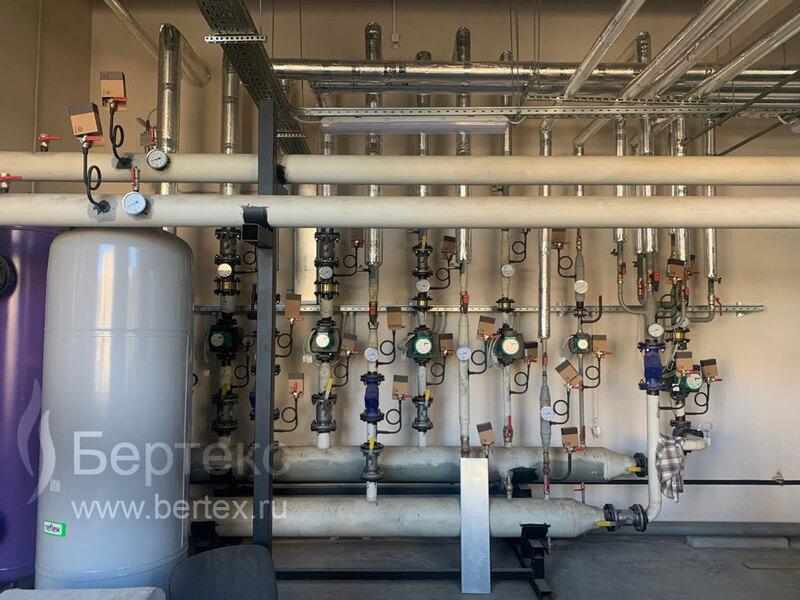 Строительство котельной, подводящего газопровода, системы отопления для комплекса зданий